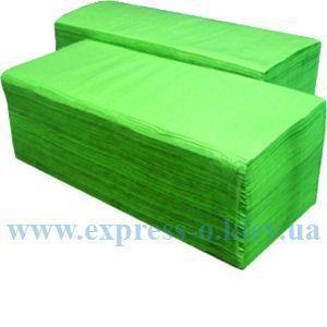 Изображение Полотенца бумажные 1-слойные 160 штук зеленые