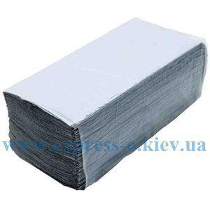 Изображение Полотенца бумажные 1-слойные 170 штук серые