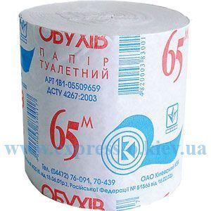Изображение Бумага туалетная  Обухов  1-слойная 48 штук в упаковке