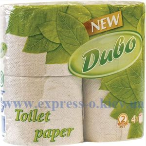 Изображение Туалетная бумага Диво 2-х слойная серая, 4 шт.