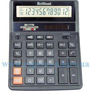 Изображение Калькулятор настольный Бриллиант BS-777M
