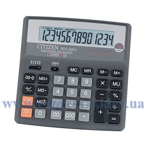 Изображение Калькулятор настольный   Ситизен SDC-640