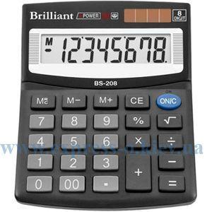 Изображение Калькулятор настольный Бриллиант BS-208