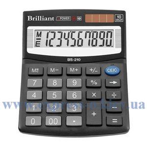 Изображение Калькулятор настольный Бриллиант BS210