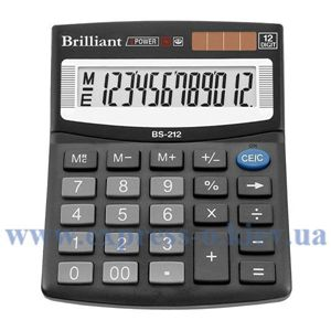 Изображение Калькулятор настольный Бриллиант BS212