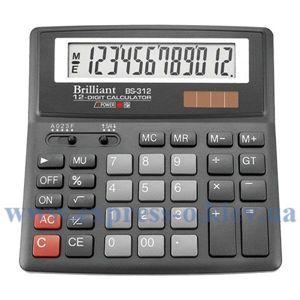 Изображение Калькулятор настольный Бриллиант BS312
