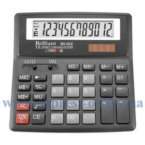 Изображение Калькулятор настольный Бриллиант BS322