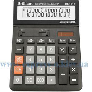 Изображение Калькулятор настольный Бриллиант BS-414