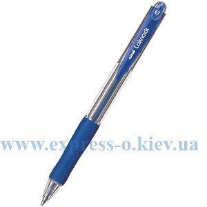 Изображение Ручка шариковая автоматическая Uni LAKNOCK fine 0.7 мм, синяя