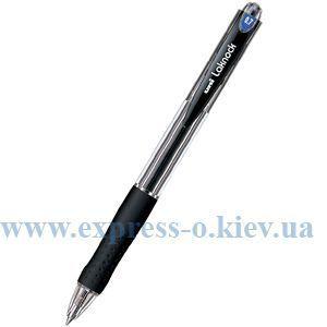 Изображение Ручка шариковая автоматическая Uni LAKNOCK fine 0.7 мм, черная