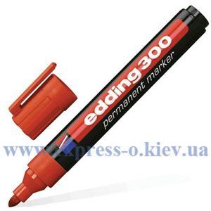Изображение Маркер перманентный  Edding E-300 1,5-3 мм круглый красный