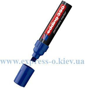 Изображение Маркер перманентный Edding E-390 4-12 мм клиновидный синий