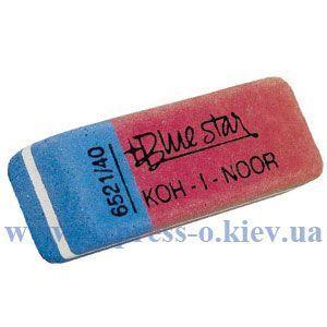 Изображение Ластик KOH-I-NOOR BlueStar 6521/40  красно-синий