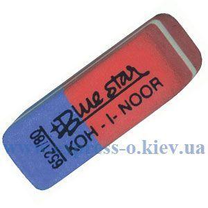 Изображение Ластик KOH-I-NOOR BlueStar 6521/84  красно-синий