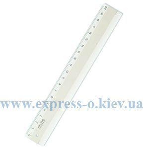 Изображение Лінійка пластикова 20 см, прозора, в блістері