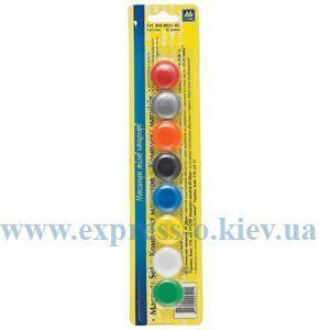 Изображение Магниты 20 мм цветные 8 штук