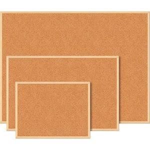 Изображение Доска пробковая JOBMAX, 90 x 120 см, деревянная рамка