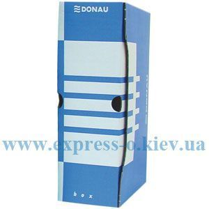 Изображение Папка бокс архивная 80 мм картон синяя
