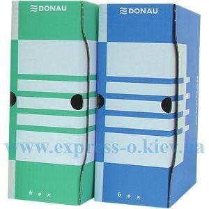 Изображение Папка-бокс 120 мм картон бело-синяя