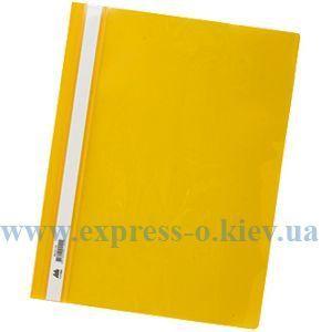 Изображение Скоросшиватель пластиковый  глянцевый желтый