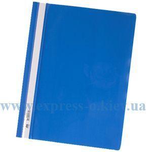 Изображение Скоросшиватель пластиковый  глянцевый синий