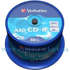 Изображение Диск CD-R Вербатим 52х 50 штук  на шпинделе
