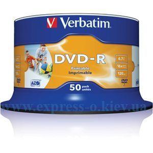 Изображение Диск DVD-R Вербатим 16х   50 штук   на шпинделе