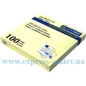 Изображение Бумага 100 листов  самоклеящаяся 76 х 76 мм желтая