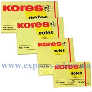 Изображение Бумага клейкая Kores, 50 х 40 мм, 100 л