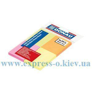 Изображение Бумага самоклеящ. 38 х 51 мм 200 листов 4 неоновых цвета