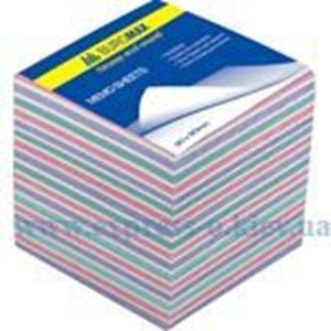 """Изображение Блок паперу для нотаток """"Зебра"""" 90 х 90 х 70 мм, не склеєний, 750 листов"""