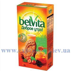 Изображение Печенье BelVita с медом и орехами, 225 г