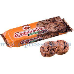 Изображение Печенье шоколадное Эсмеральда с шоколадом 150 г