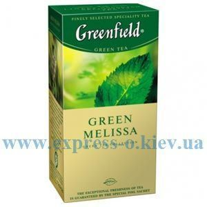 Изображение Чай Greenfield зеленый  Green Melissa   25 пакетов х 1,5 г