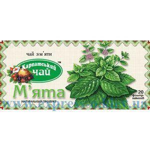 """Изображение Чай травяной """"Карпатський чай"""" Мята 20  пакетов х  1,35 г"""