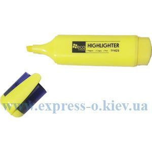 Изображение Маркер Eco-Eagle скошений пишучий вузол, колір жовтий