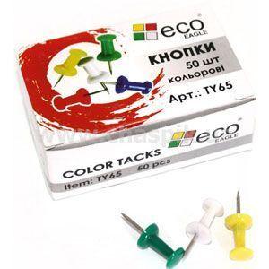 Изображение Кнопки-цвяшки Eco-Eagle кольорові' метал пластик